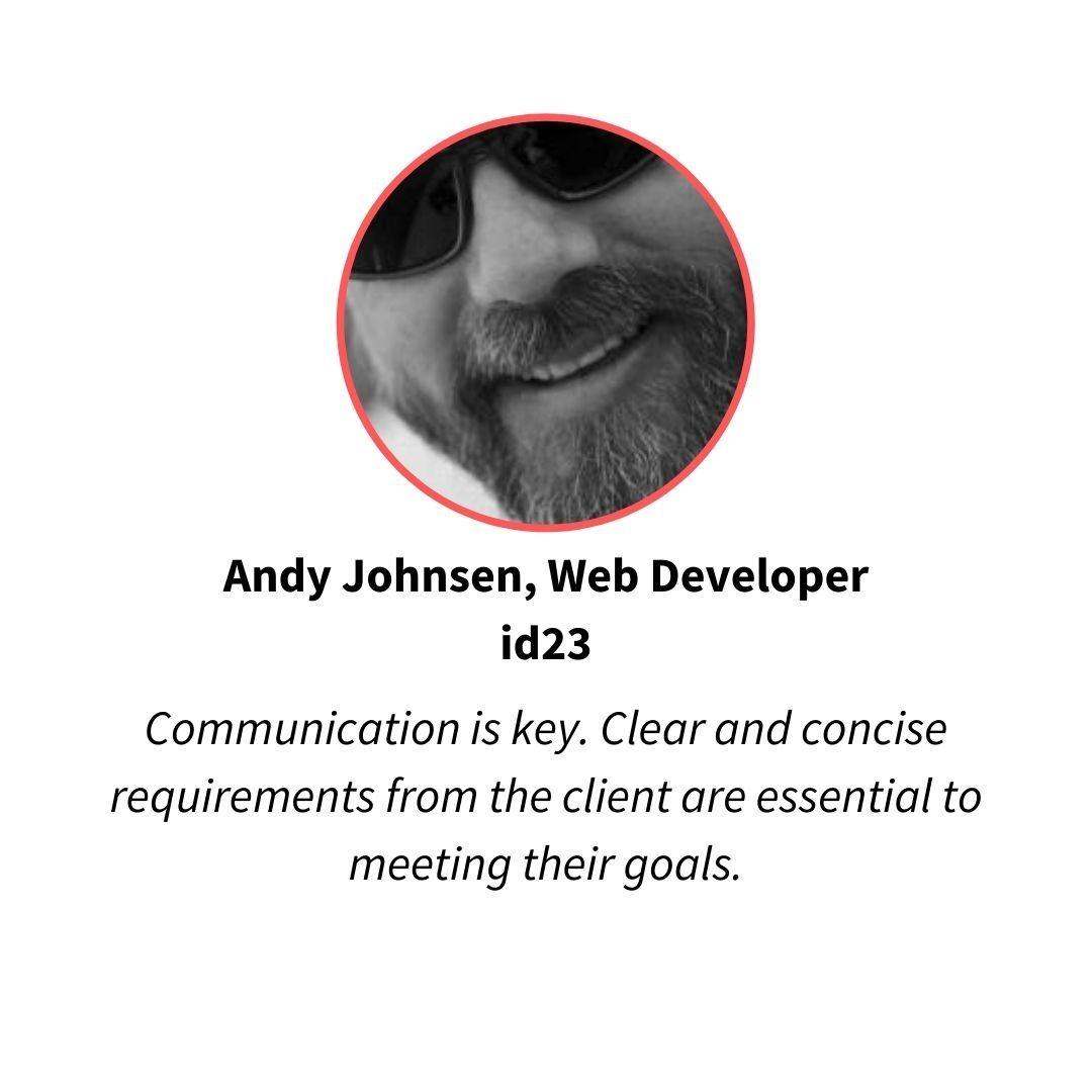 andy johnsen, web developer at id23